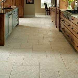 piso cerámico de una cocina