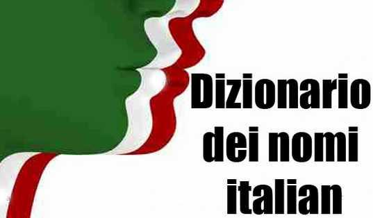 diccionario de nombres italianos populares este año